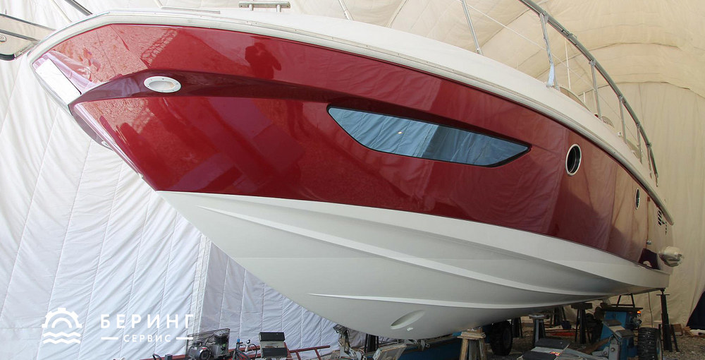 Results of yacht hull coloring | Bering-Service