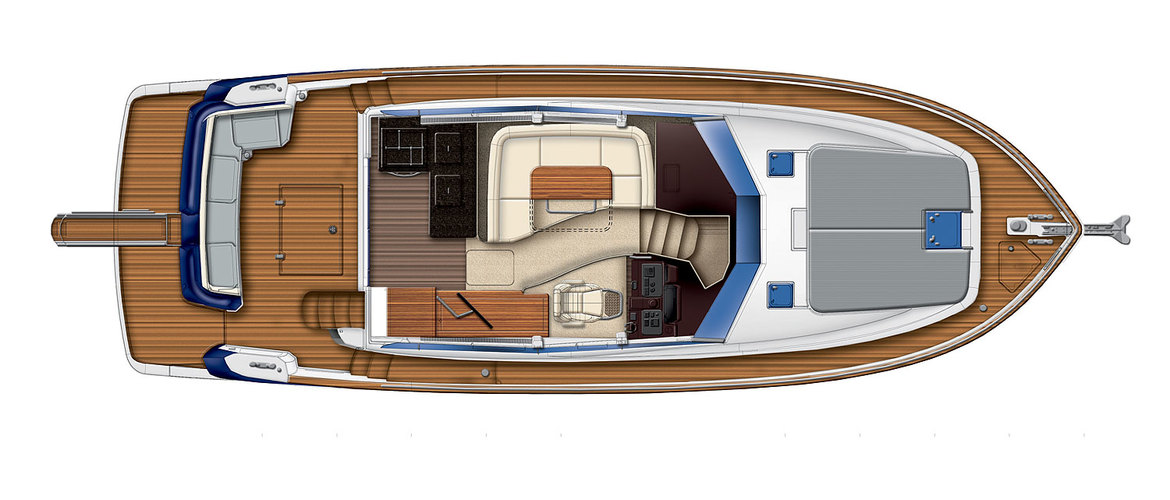 Main deck Magellano 43 Flybridge