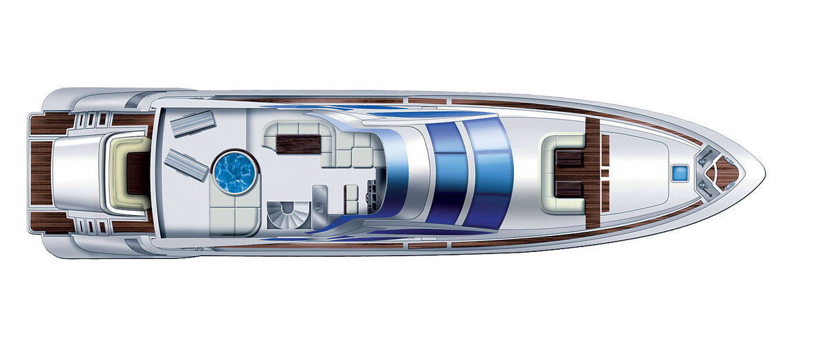 Flybridge Of The Azimut Leonardo 100