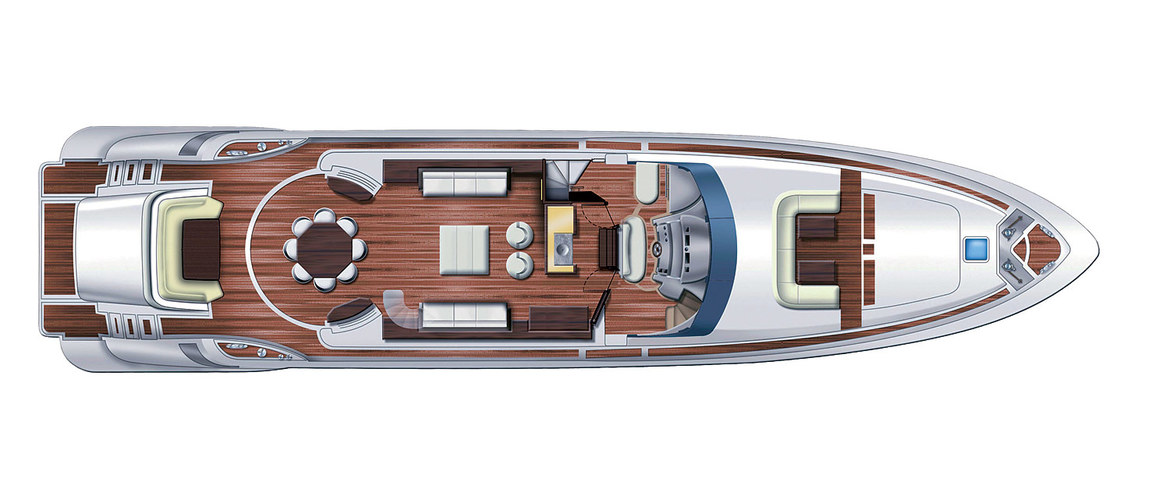 Main deck of the Azimut Leonardo 100